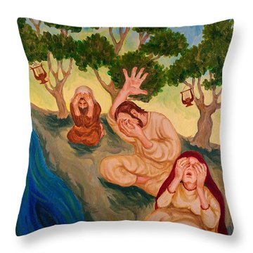By The Rivers Of Babylon - Psalm 137 Throw Pillow by Michele Myers