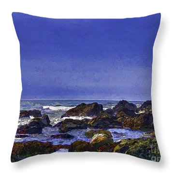 By The Sea By The Beautiful Sea Throw Pillow
