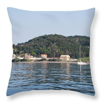 Throw Pillow featuring the photograph By The Sea by George Katechis