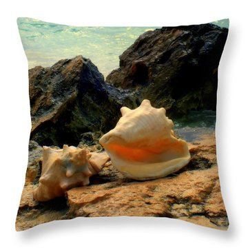 By The Sea Throw Pillow by Karen Wiles