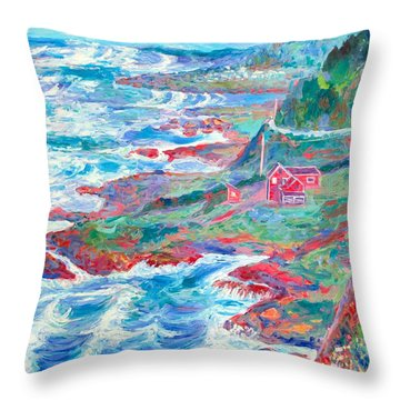 By The Sea Throw Pillow by Kendall Kessler