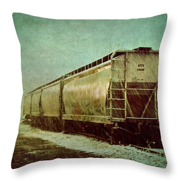 By The Tracks Throw Pillow by Jessica Brawley