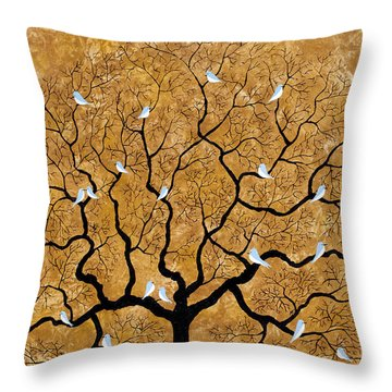 By The Tree Throw Pillow