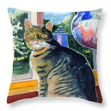 By The Window Throw Pillow by Katherine Miller