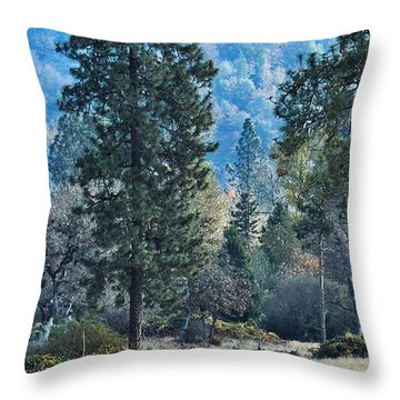 Throw Pillow featuring the photograph Bye Bye Fall by Julia Hassett