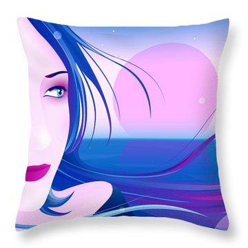 Bye Bye My Baby Throw Pillow by Sandra Hoefer