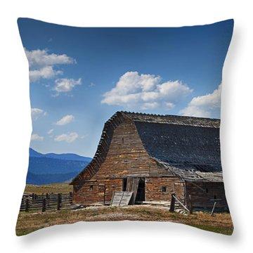 Bygone Days Barn Throw Pillow