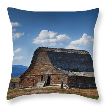 Bygone Days Barn Throw Pillow