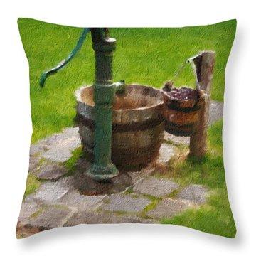 Bygone Times Throw Pillow by Blair Stuart