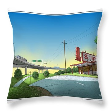 Bypassed Throw Pillow
