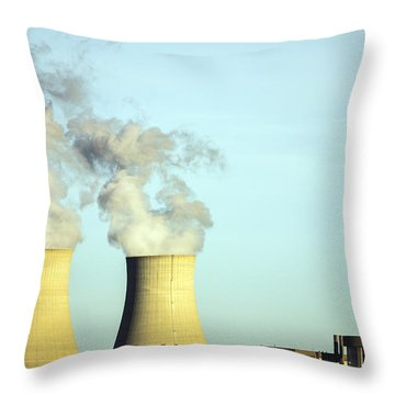 Byron Nuclear Plant Throw Pillow
