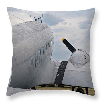 Throw Pillow featuring the photograph C-47 3880 by Guy Whiteley