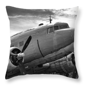 C-47 Skytrain Throw Pillow by Guy Whiteley