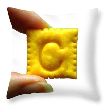 Throw Pillow featuring the photograph C For Cheese Cracker by Pete Trenholm