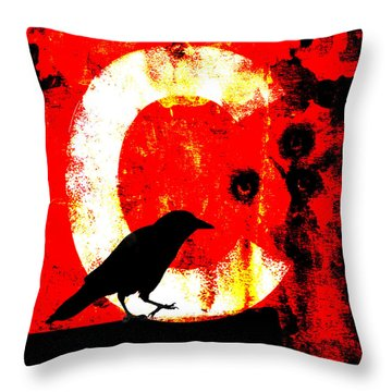 C Is For Crow Throw Pillow