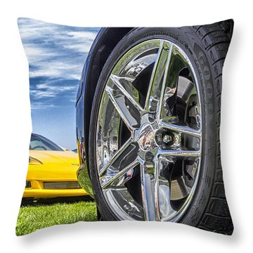 C Sixes Throw Pillow by Gary Warnimont