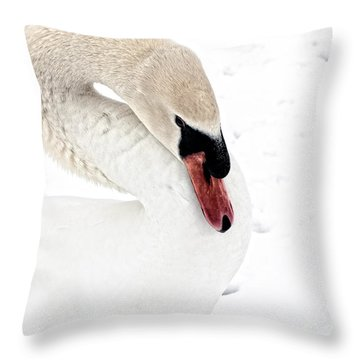 C Y G N U S Throw Pillow by Charles Dobbs