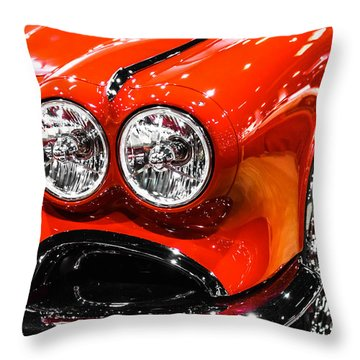 C1 Red Chevrolet Corvette Picture Throw Pillow by Paul Velgos