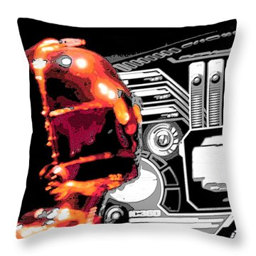 C3po Throw Pillow by J Anthony