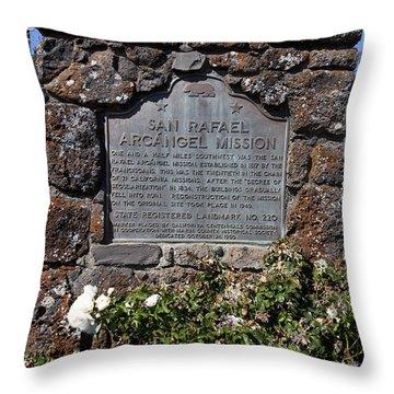 Ca-220 San Rafael Arcangel Mission Throw Pillow by Jason O Watson