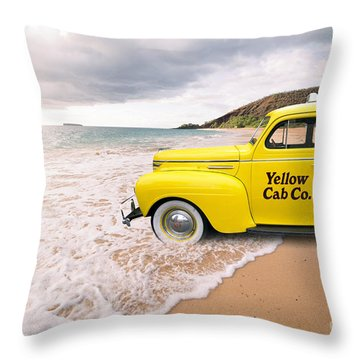 Throw Pillow featuring the photograph Cab Fare To Maui by Edward Fielding