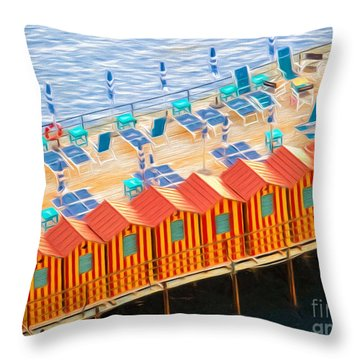 Cabanas Of Sorrento Throw Pillow