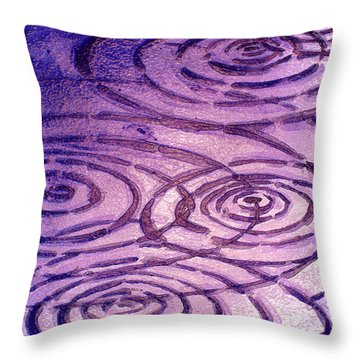 Cabernet Sauvignon Ripples Throw Pillow