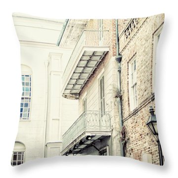 Throw Pillow featuring the photograph Cabildo Alley by Heather Green