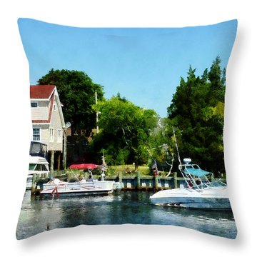 Throw Pillow featuring the photograph Cabin Cruisers by Susan Savad