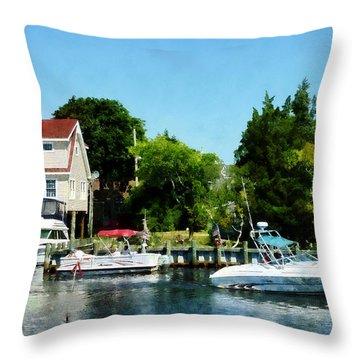 Cabin Cruisers Throw Pillow by Susan Savad