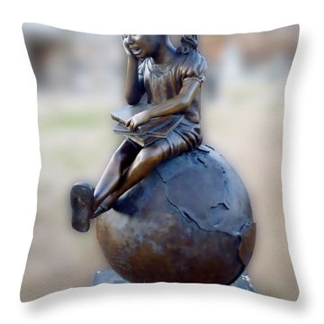 Throw Pillow featuring the photograph Cabin Fever Sculpture by Pete Trenholm