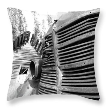 Cabin Grill Throw Pillow by Tarey Potter