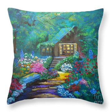 Cabin In The Woods Jenny Lee Discount Throw Pillow