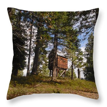Throw Pillow featuring the photograph Cabin In The Woods by Kristen R Kennedy