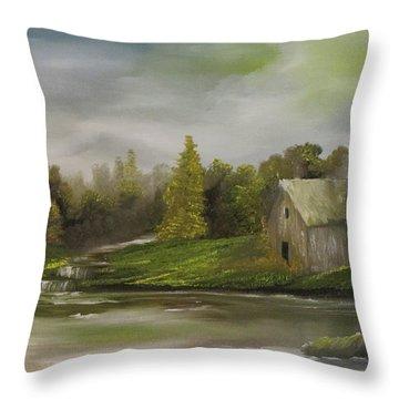Cabin Retreat Throw Pillow
