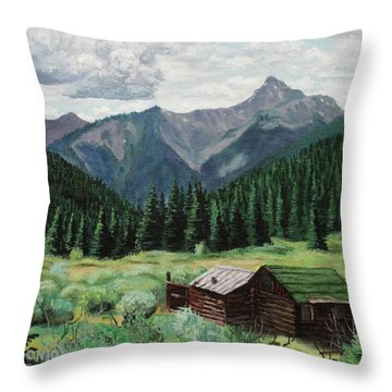 Cabin With A View Throw Pillow