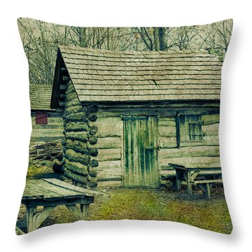 Cabins In The Woods Throw Pillow