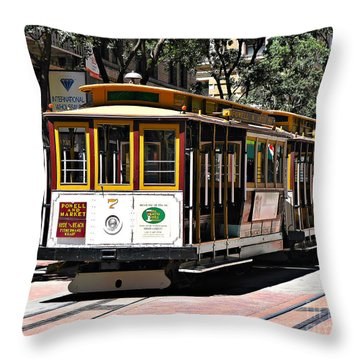 Cable Car - San Francisco Throw Pillow