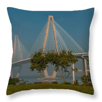 Cable Stayed Bridge Throw Pillow