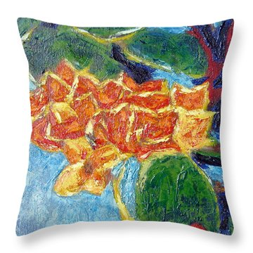 Cabo Floral I Throw Pillow