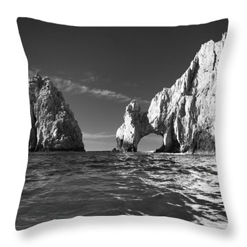 Cabo In Black And White Throw Pillow