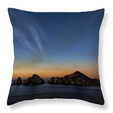 Cabo Lands End Throw Pillow