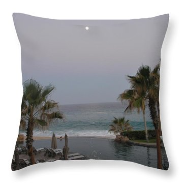 Throw Pillow featuring the photograph Cabo Moonlight by Susan Garren