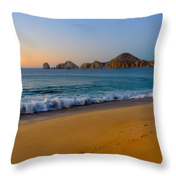 Cabo San Lucas Morning Throw Pillow by Mark Goodman