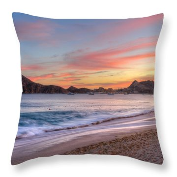 Cabo Sunset Throw Pillow by Mark Goodman