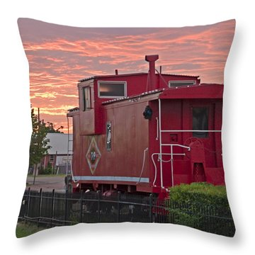 Caboose 1 Throw Pillow by Walter Herrit