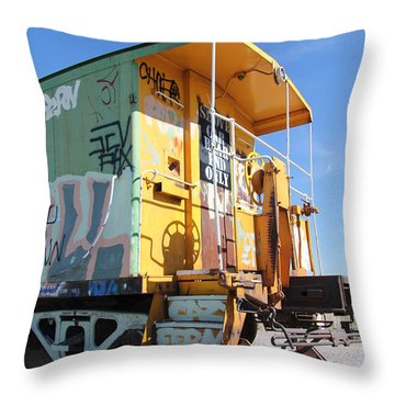 Caboose Throw Pillow by Diane Greco-Lesser