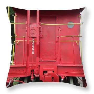 Caboose Throw Pillow by Randall Weidner