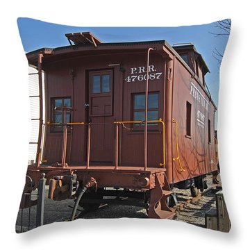 Caboose Throw Pillow by Skip Willits