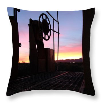 Caboose Waiting Til Dawn Throw Pillow by Diane Greco-Lesser